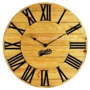 Годинник дерев'яний Glozis Kansas Gold 60 см