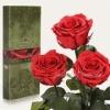 Три долгосвежие розы Florich Алый рубин