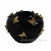 Ваза керамическая черная Бабочки с золотом 22 см