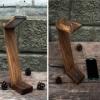 Деревянная лампа настольная EcoWalNut