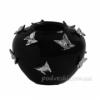 Ваза керамическая черная Бабочки платина 22 см