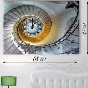 Часы настенные на натуральном холсте Спираль