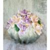 Керамическая ваза с цветами Букет Ирисов