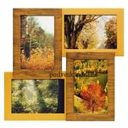 Деревянная рамка 4 фото Двойное золото