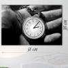 Годинник настінний на полотні В руці 38х58 см