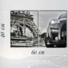Модульная картина с часами на холсте Париж