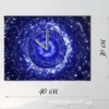 Годинник настінний на полотні Зоряний потік 30x40 см