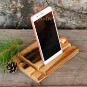 Деревянная подставка для телефона EcoWalNut Прямоугольник