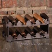 Стеллаж для вина Florentine черный 8 бутылок