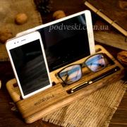 Деревянная подставка для телефона и планшета Офисный набор