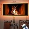 Картина с LED-подсветкой Камин