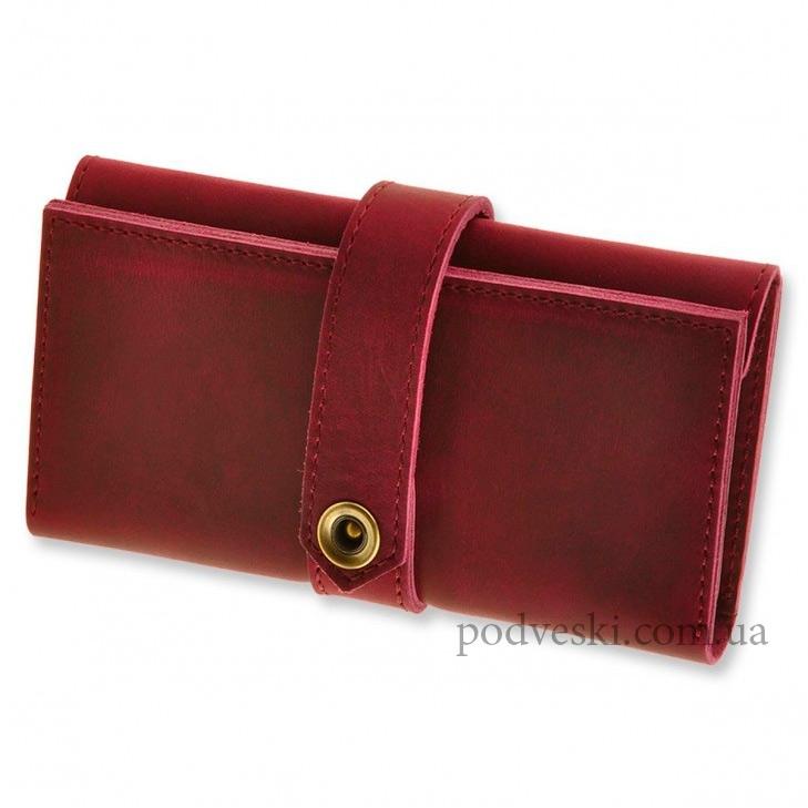 кожаный кошелек подарок женщине 8 марта