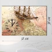 Настенные часы-картина на холсте Путешествия