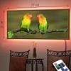 Картина с диодной подсветкой Попугаи