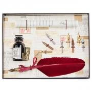 Набор для каллиграфии 530-36 бордовое перо