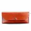 Клатч-конверт кожаный Коньяк