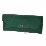 Клатч-конверт кожаный Изумруд