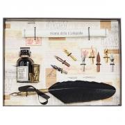 Набор для каллиграфии 530-36 черное перо