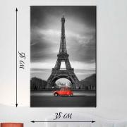 Фотокартина на натуральном холсте Париж