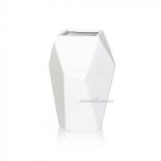 Керамическая ваза Полигональная 2501-18 белая