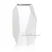 Керамическая ваза Полигональная 2502-21 белая