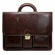 Мужской портфель кожзам Cavaldi 10-EX коричневый