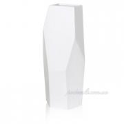 Керамическая ваза Полигональная 2503-34 белая