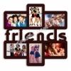 Мультирамка деревянная на 6 фото Friends венге