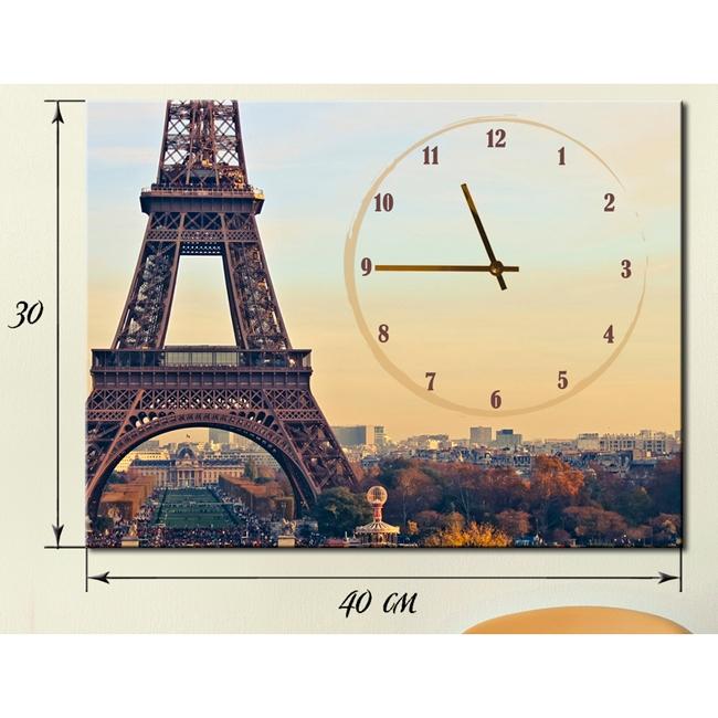 картина часы Париж подарок любимой девушке женщине жене
