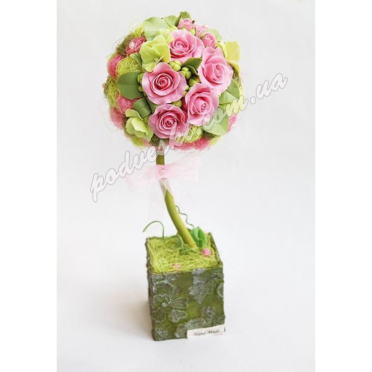 деревце декор цветы подарок топиарий купить