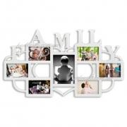 Фоторамка коллаж с надписью Family 7 фото белая