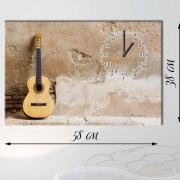 Настенные часы-картина на холсте Гитара