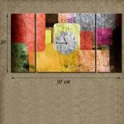 Мультипанно с часами Цветные квадраты
