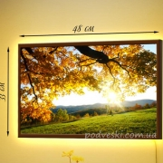 Картина в рамке с LED-подсветкой Восход