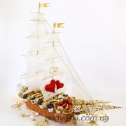 Свадебный корабль из конфет Круиз