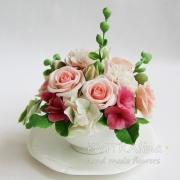 Цветы ручной работы Лето в чашке