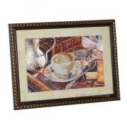 Картина Чаепитие, вышивка бисером ручной работы