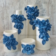 Набор ваз керамических Grand Kerama Индиго синий