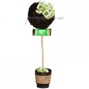 Топиарий Розы с ароматом кофе, дерево декор купить