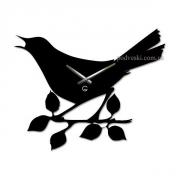 Настенные часы акриловые Glozis Птичка 42х34 см