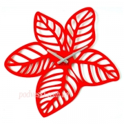 Настенные часы Glozis Красные листья