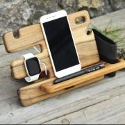 Деревянная подставка для смартфона Слайдер iWatch