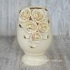 Ваза керамическая Барокко 29 см c розами беж-золото
