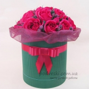 Букет из конфет в коробке Ledy in red