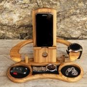 Органайзер деревянный для телефона Трон