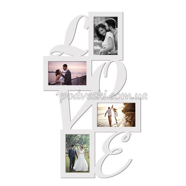 фоторамка коллаж Love подарок девушке 14 февраля декор купить цена
