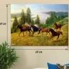 Картина на холсте (пигментная печать) Дикие лошади