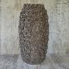 Керамическая ваза Гранди Флора серая 38 см