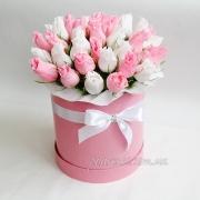 Букет из конфет в коробке Розовое облако