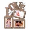 Деревянная фоторамка коллаж Love на 3 фото